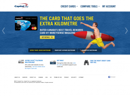 Capital One Canada Mobile Responsive Design Concept