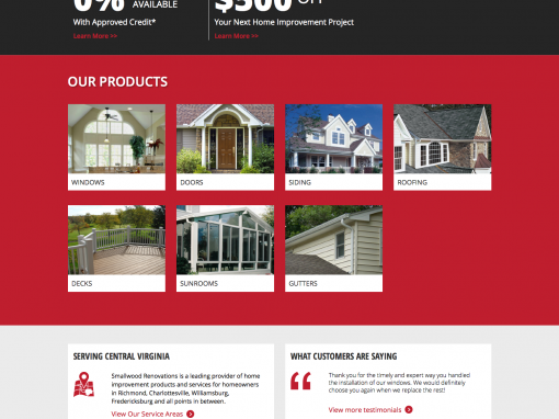 Smallwood Renovations Web and Branding