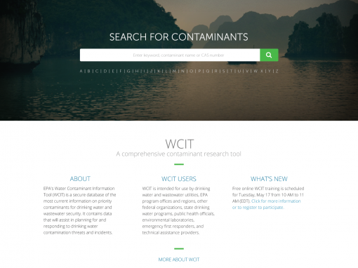 Water Contaminant Information Tool (WCIT) Redesign