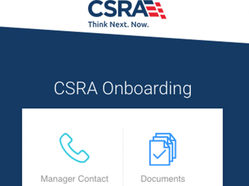 CSRA Onboarding App